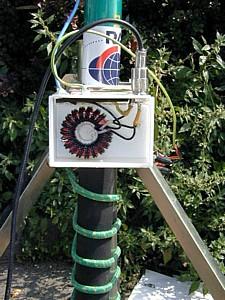 Antenna portatile per HF canna da pesca